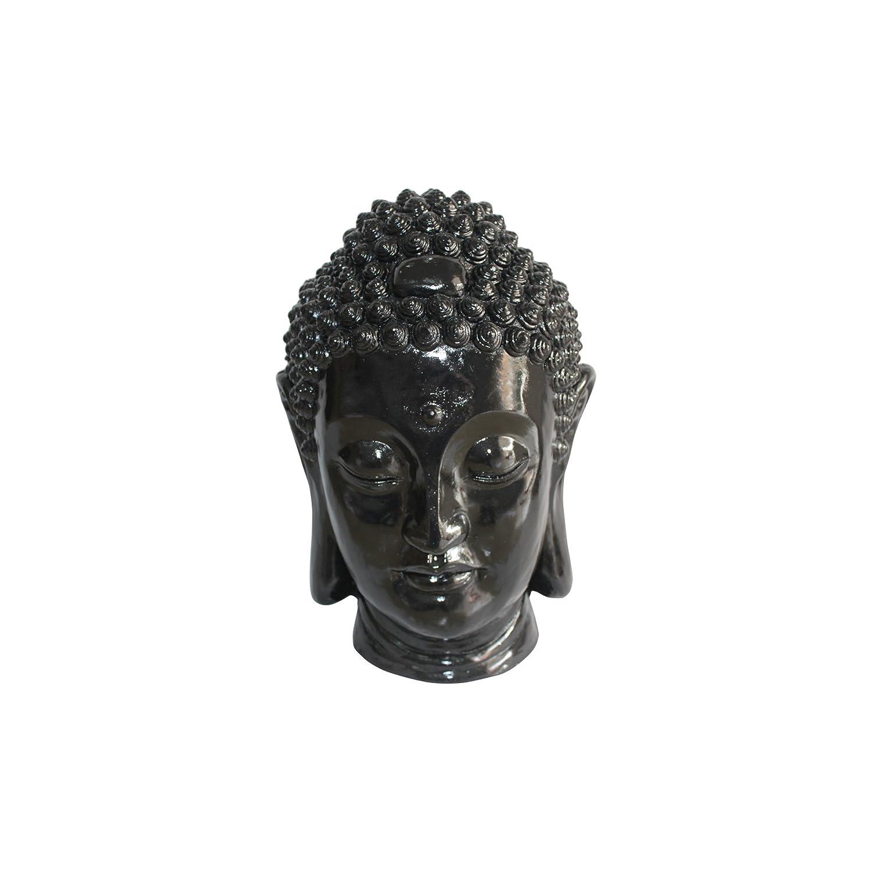 HOMEA 5dej1334nr Estatua Dibujo Cabeza Buda Magnesia Negro 23,5 x 22,5 x 34 cm: Amazon.es: Hogar