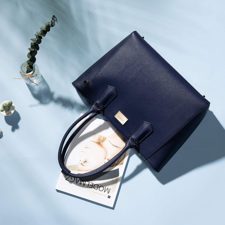 Laptoptasche Damen 15,6 Zoll Handtasche Gro/ß Business Laptop Schultertasche Umh/ängetasche Tote Bag Aktentasche Leicht Laptop Notebook f/ür B/üro Schule Einkauf Gelb Braun