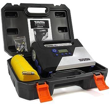 TireTek RX-i Inflador de neumáticos Digital - 12 V compresor de aire portátil: Amazon.es: Coche y moto