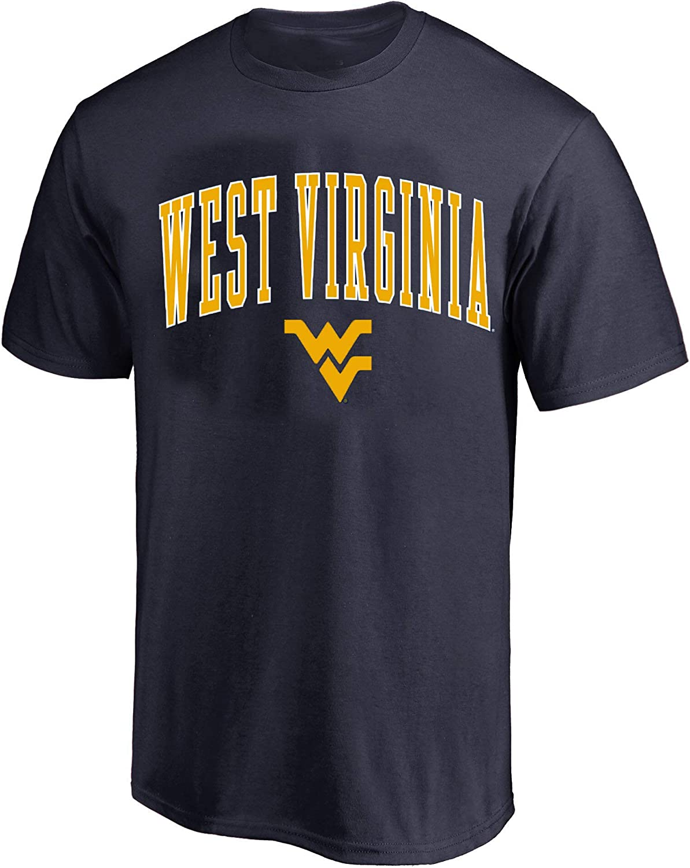 Profile Varsity West Virginia University Mens Big /& Tall Mountaineers Arch Logo T-Shirt