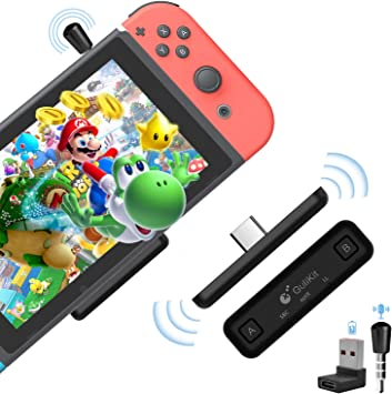 ATUTEN Adaptador Bluetooth Route Air con micrófono compatible con Nintendo Switch, Switch Lite, PS4, transmisor PC con aptX Low Latency: Amazon.es: Electrónica