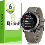IQ Shield Screen Protector Compatible with Garmin Forerunner 645 (6-Pack)(Full Coverage) Anti-Bubble Clear Film