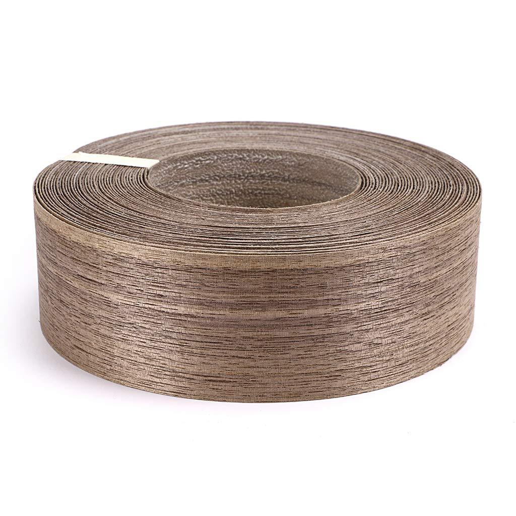 Skelang Walnut 3/4 X 50' Roll Wood Veneer Edge Banding Preglued Iron-on with Hot Melt Adhesive Edgebanding Flexible Wood Tape