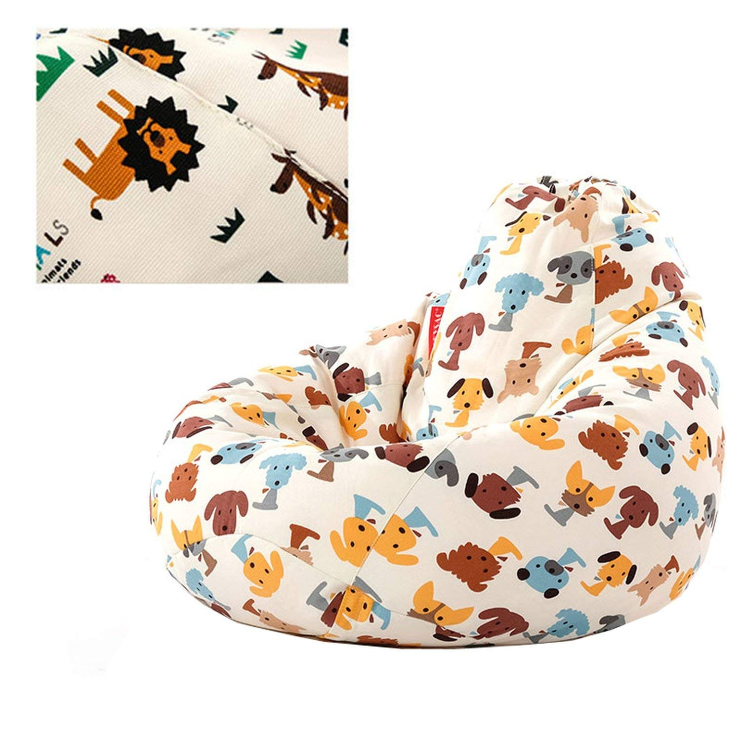 Swell Amazon Com Cute Animal Bean Bag Lounger Sofa Cover Chairs Machost Co Dining Chair Design Ideas Machostcouk