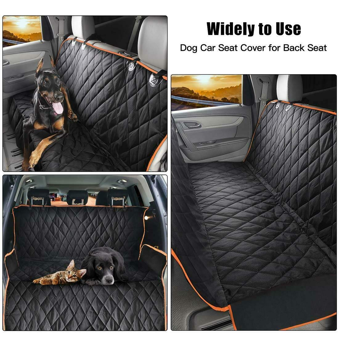 100/% Waterproof Pet Seat Covers for Back Sea Dog Car Seat Cover with Side Flaps