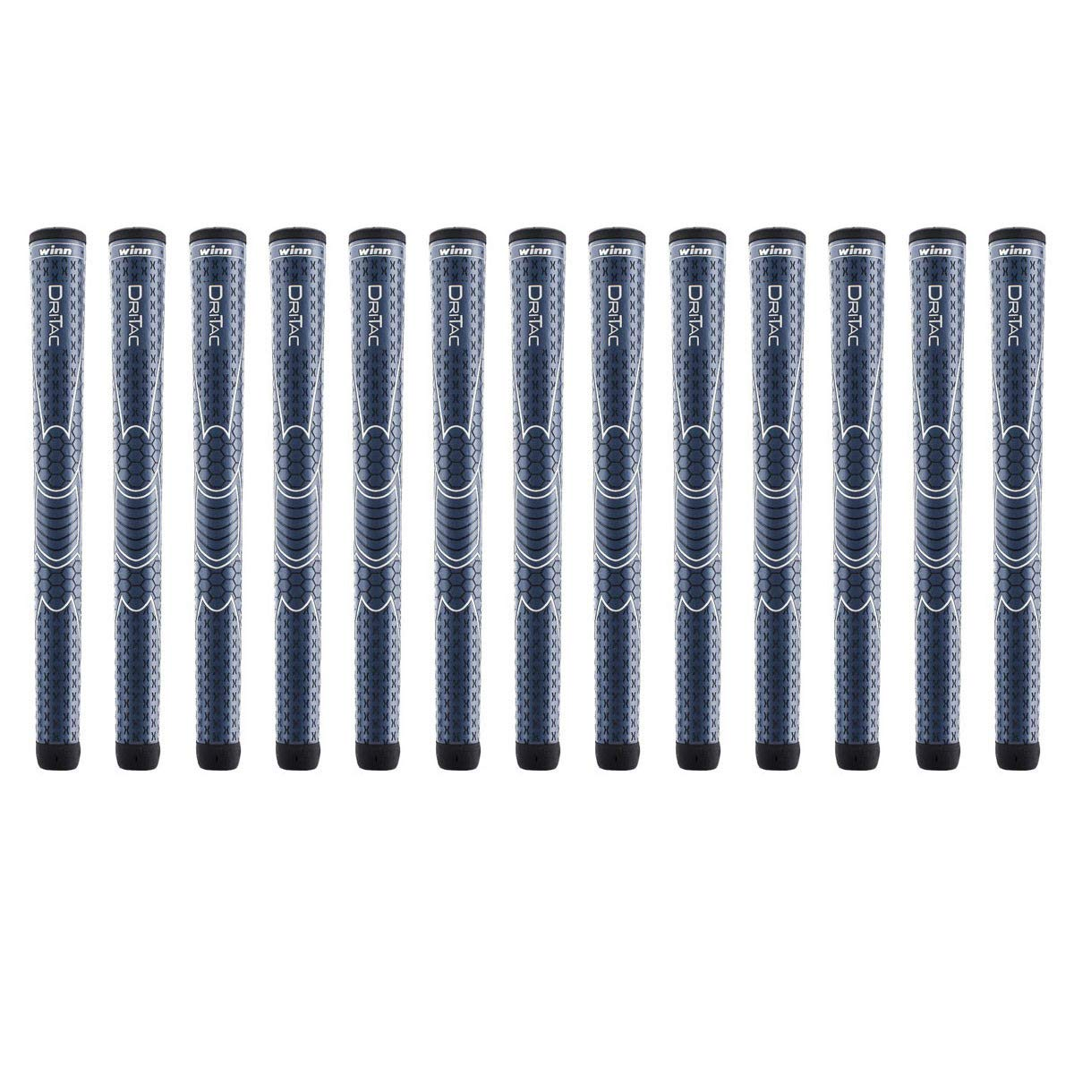 Winn Dri-Tac Oversize +1/8 inch Navy Blue 13 Piece Golf Grip Bundle (