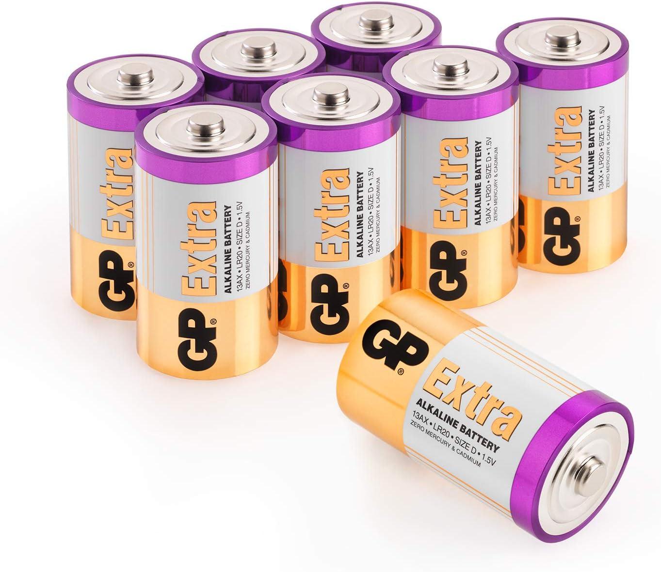 Gp Extra Alkaline Batterien D Typ Mono Lr20 Spannung 1 5 Volt