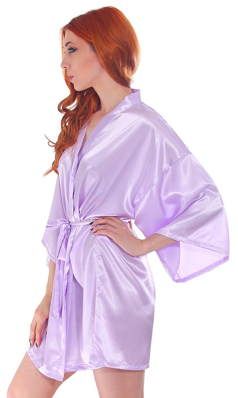 Kimono Mujer corto (Simplicity Mujer pijamas corto de albornoz de ...