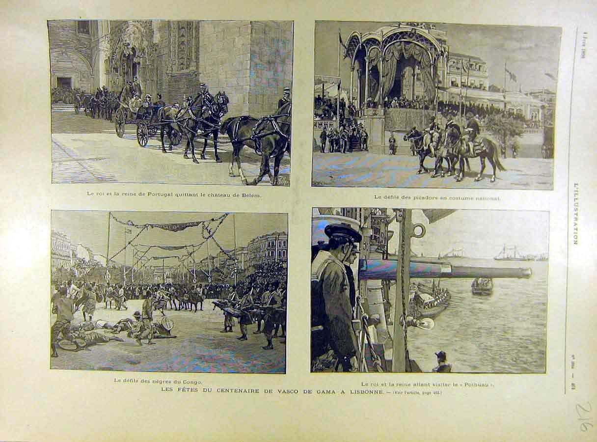 1898 Portugal Reina Belem traje Vasco-da-gama Lisboa: Amazon ...