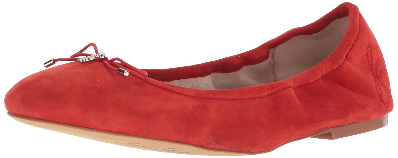 Sam Edelman Women's Felicia Ballet Flat B0721V7B7R 5 B(M) US|Candy Red Suede