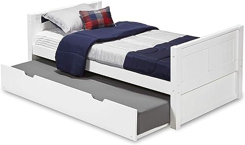 Camaflexi Panel Style Solid Wood Platform Bed