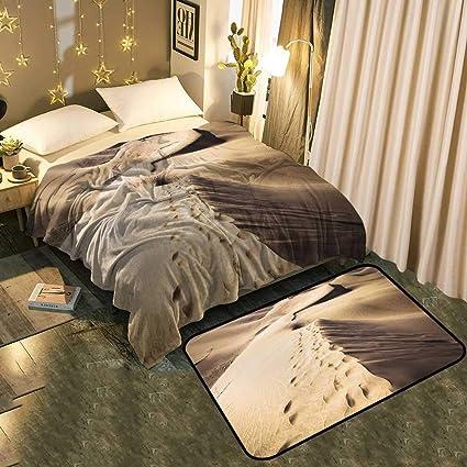 Amazon.com: UNOSEKS-Home Super Soft Blanket Floor mat Set ...