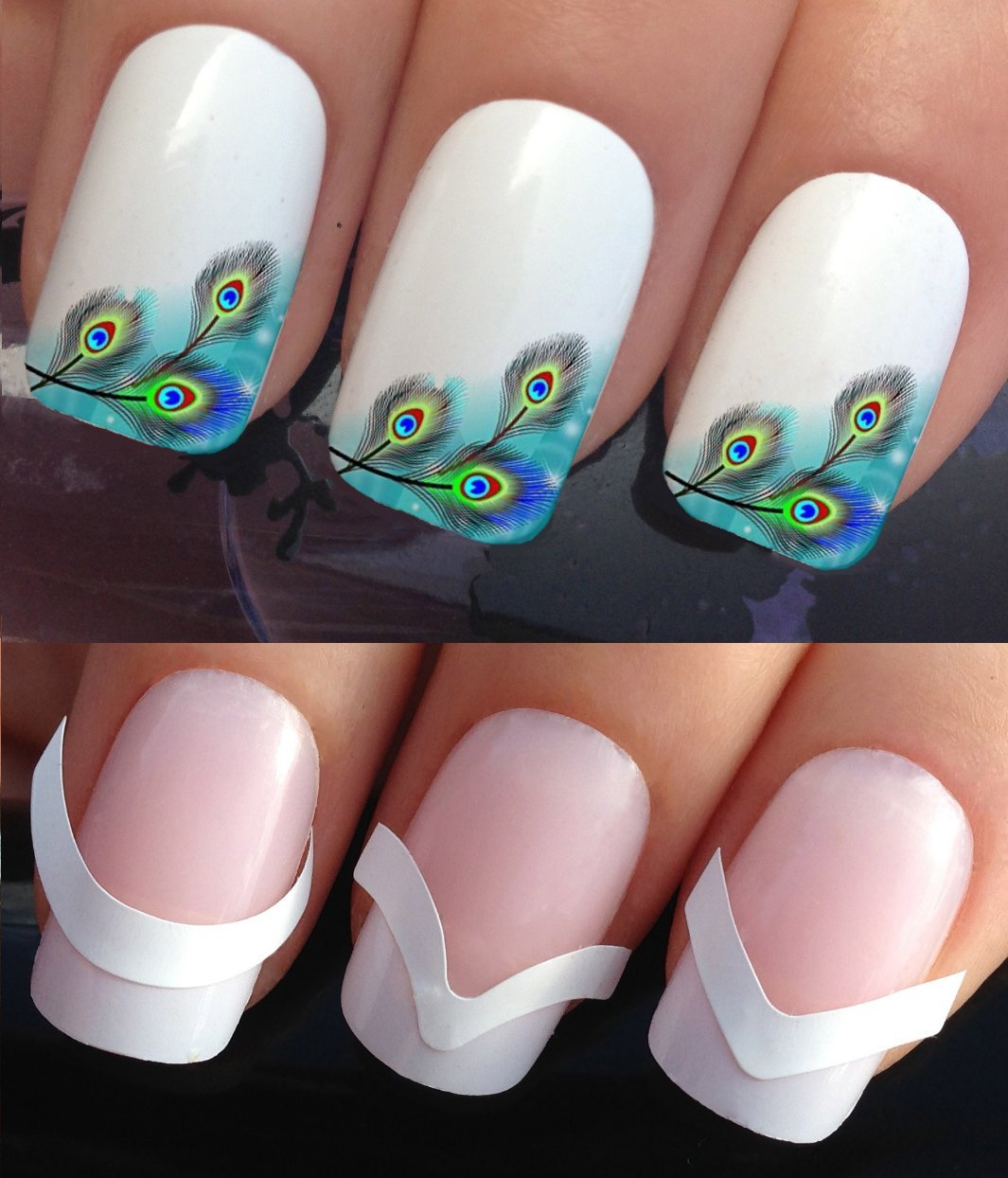 WATER NAIL TRANSFERS DECALS STICKERS ART SET #382 & 172. **plus x48 ...