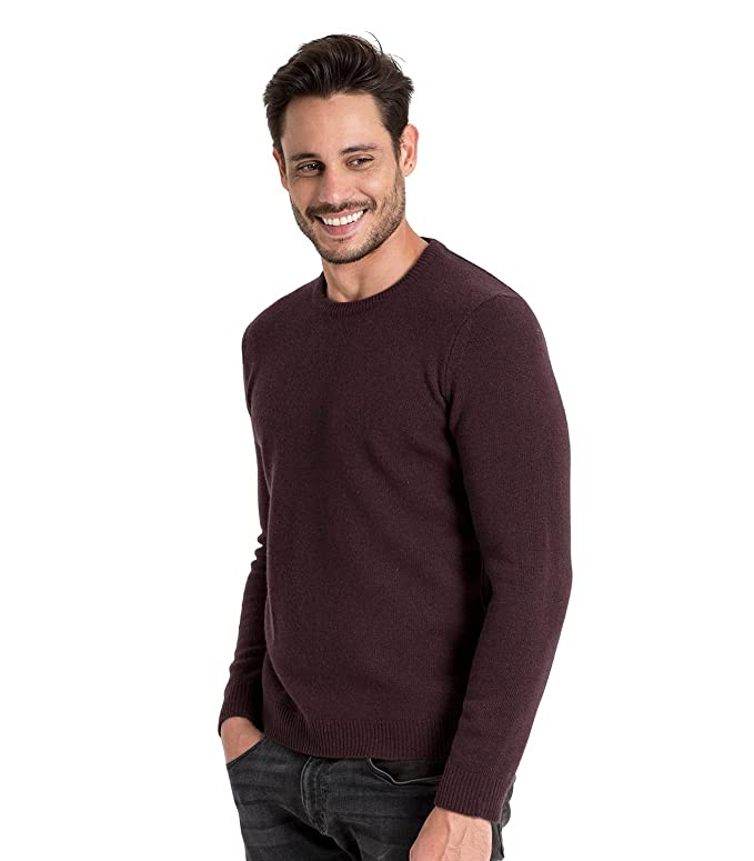 Woolovers Mens Lambswool V Neck Knitted Sweater Cozy Comfort S Dark Pepper