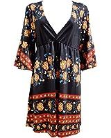 Paule Trevelyan NEW novas mulheres marca de moda vestido de impressão padrão floral solto mini vestidos