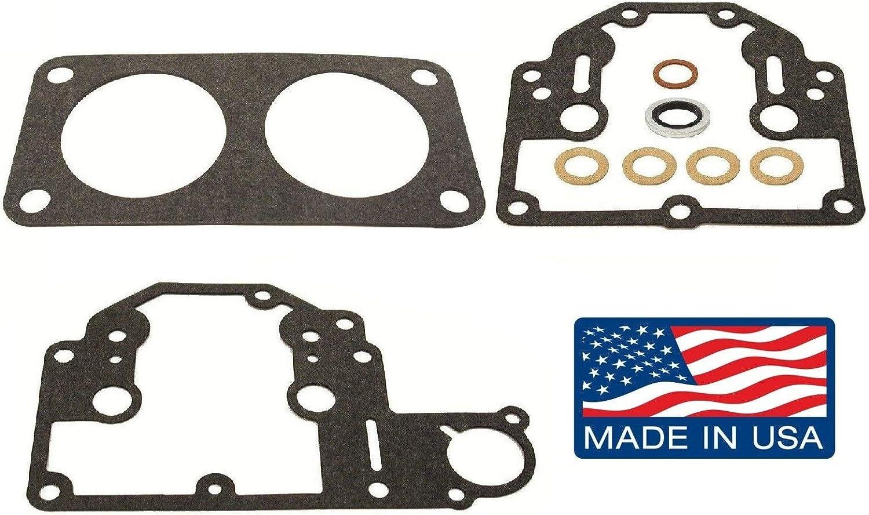 emp Carburetor Gasket Kit for Mercury V6 135, 150, 175, 200, 225 Hp V135 V150 XR6 Replaces 18-7213, 810749-2 Read Product Description for Applications