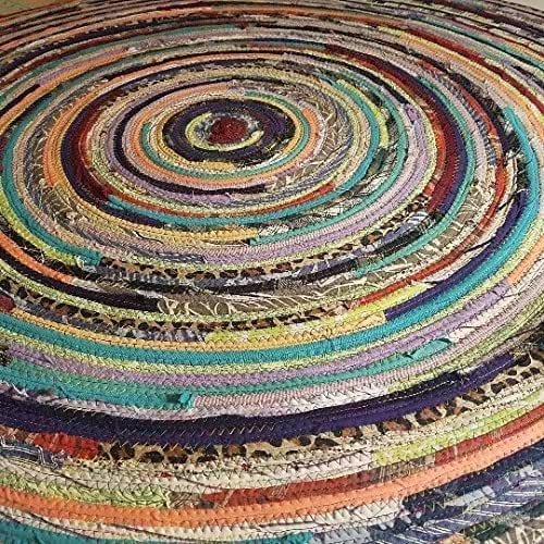 Amazon.com: 4' Colorful Round Rag Rug, Made To Order YOU