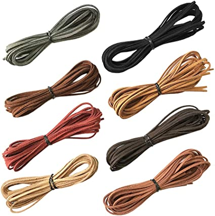 55 Yards Suede Cord Faux Leather Cord String Rope Thread for Bracelet Necklace Beading Jewelry DIY Crafts 5 Colors