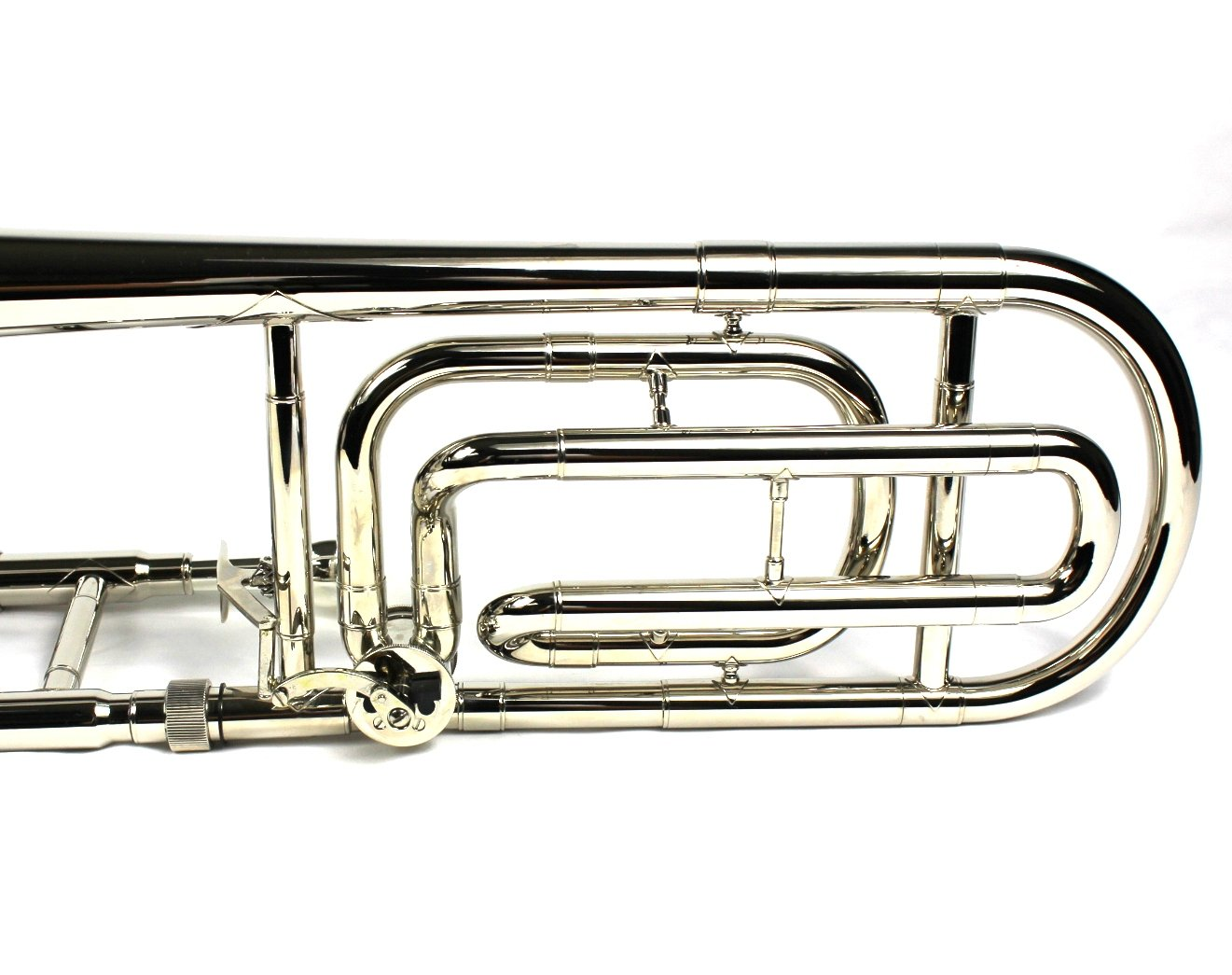 Brand New Bb/F Tenor Trombone w/ Case and Mouthpiece- Nickel Plated Finish by Moz (Image #7)