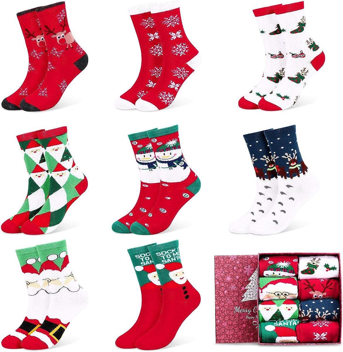 Fixget Calcetines de Navidad