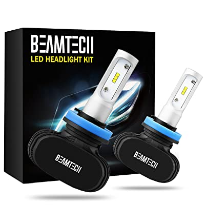 BEAMTECH H11 LED Headlight Bulb, 50W 6500K 8000Lumens Extremely Brigh H8 H9 CSP Chips Conversion Kit: Automotive