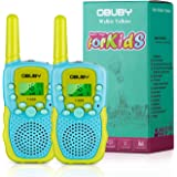 Obuby Walkie Talkies for Kids, 22 Channels 2 Way Radio Kid Toy Gift 3 KMs Long Range with Backlit LCD Flashlight Best…