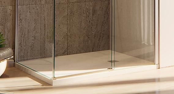 Box Doccia Angolare 80x120 cm 1 Anta Scorrevole in Cristallo Trasparente 8mm H200 OL Docce Formula8