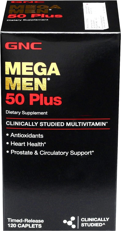 GNC Mega Hombres 50 Plus, 120 unidades