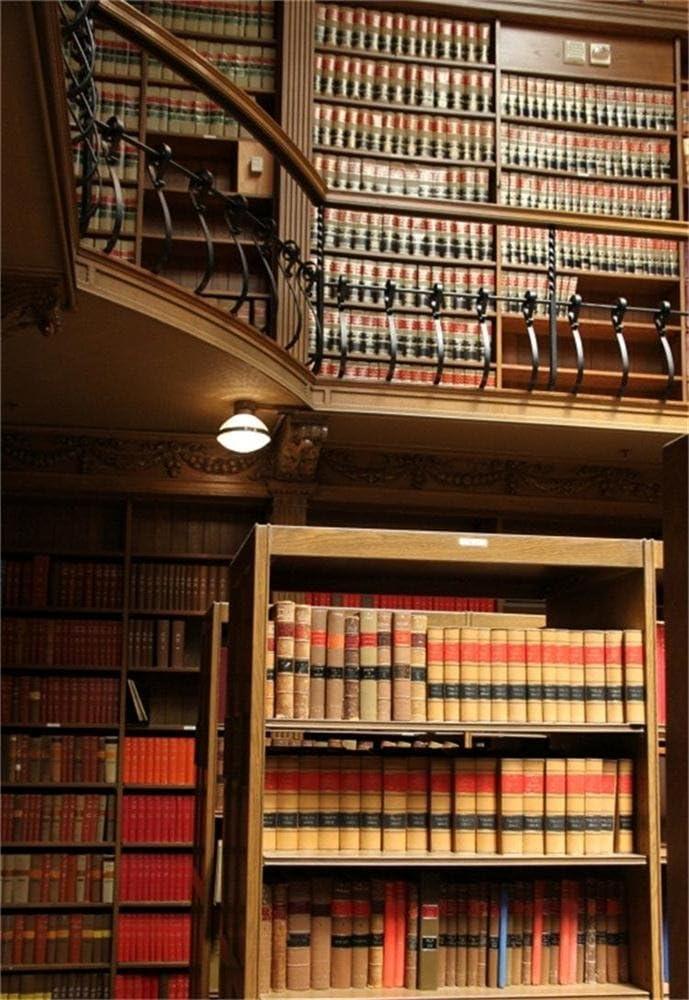 Leyiyi 7x5ft Photography Background Bookshelves Backdrop Modern Library Leisure Time College Knowledge Wisdom Study Path Row Borrow Reading Corner Magazine Photo Portrait Vinyl Studio Video Prop