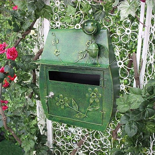 Colgante de pared de jardín Decoración de buzón de hierro Buzón de ...