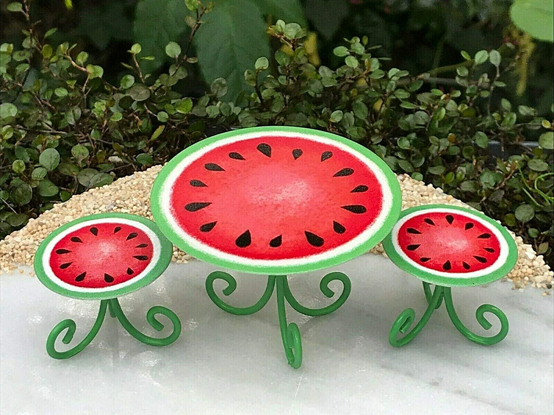 Miniature Dollhouse FAIRY GARDEN Accessories ~ Mini Watermelon BEACH Lawn Chair