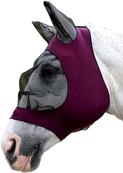 Weatherbeeta Stretch Eye Saver with Ears Pony, Purple//Black