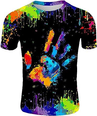 Men/'s Summer Casual 3D Printed T-Shirt Round Neck Tops Tee Short Sleeve Shirts