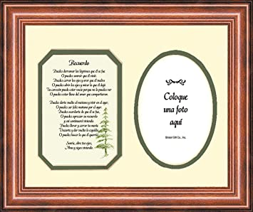 spanish memorial male remembrance poem photo frame 9