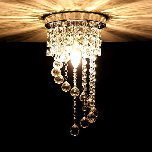 HAWEE Lámpara de Araña de Cristal Lámpara de Techo Luz ...