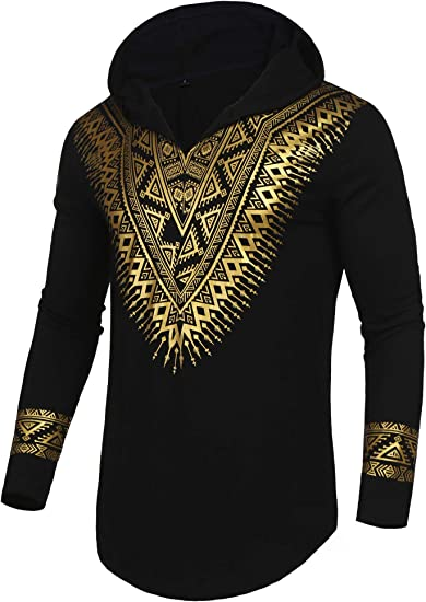 2019 Mens African Dashiki Hipster Hip Hop Crew Neck T Shirt Tee Top Beach Blouse
