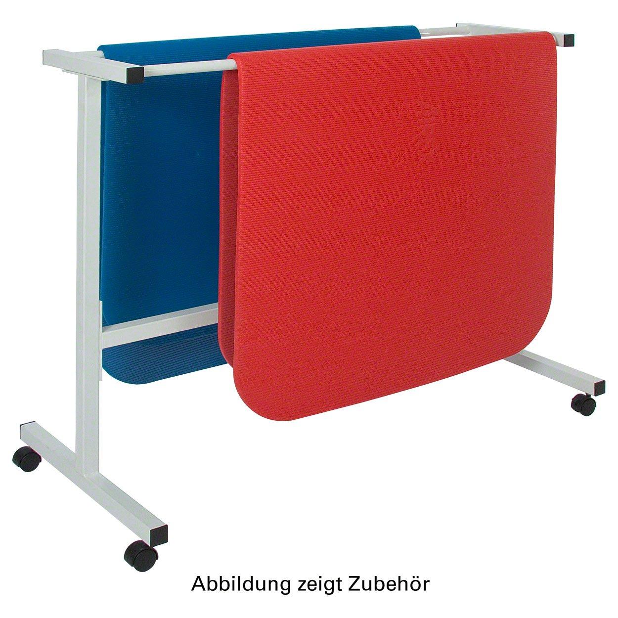 Fahrbarer Mattenwagen für max. 10 Gymnastikmatten Transporthilfe Turnmatte