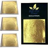 Feuille d'or 24 carats dans la base 100% authentique, 10 feuilles x 4.5cm
