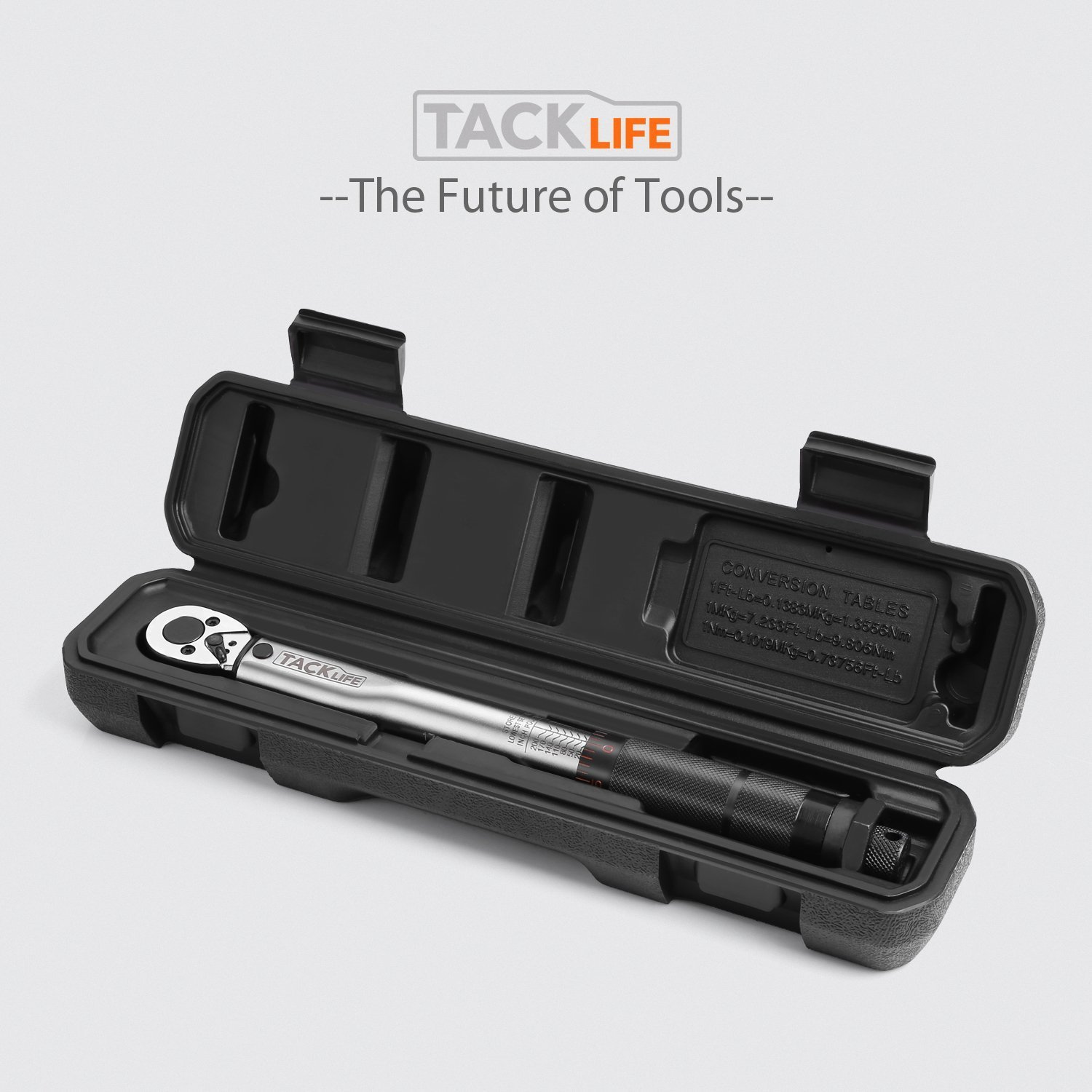 1//2/'/' /& 1//4/'/' Adaptor Tacklife Torque Wrench 3//8 Inch Drive 13.6-108.5 NM 10-//80 lb-ft HTW1A with 2.95-inch Extension Bar