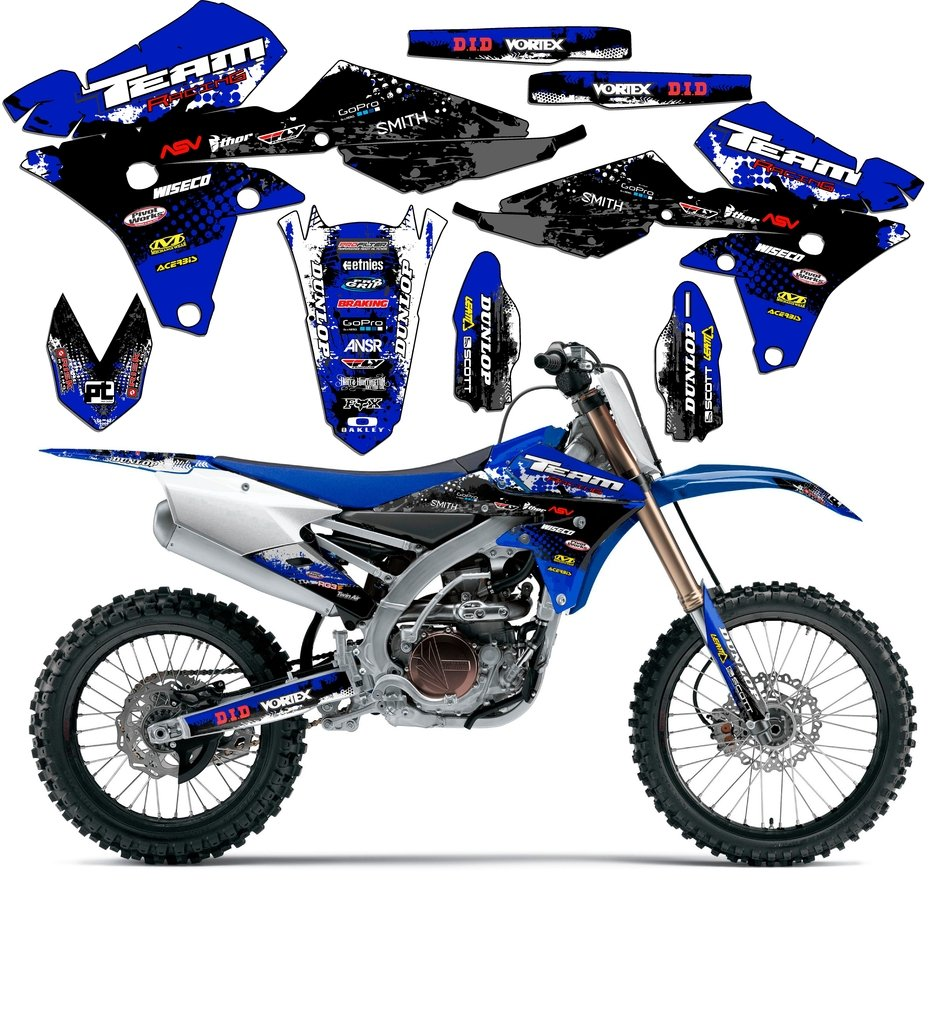 Team Racing Graphics kit compatible with Yamaha 2005 YZ 250F/450F, SCATTER