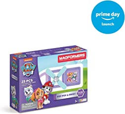 Nickelodeon Paw Patrol 25Pc Pup & Away Set Magnetic Construction Building Kit (25 Piece), Paw Patrol Colors