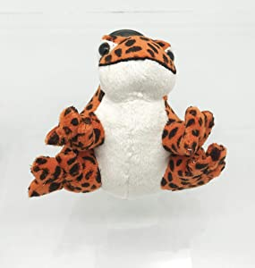 "Collectible Wildlife Gifts Orange Frog Stuffed Animal Sound 5"" WR05B620"