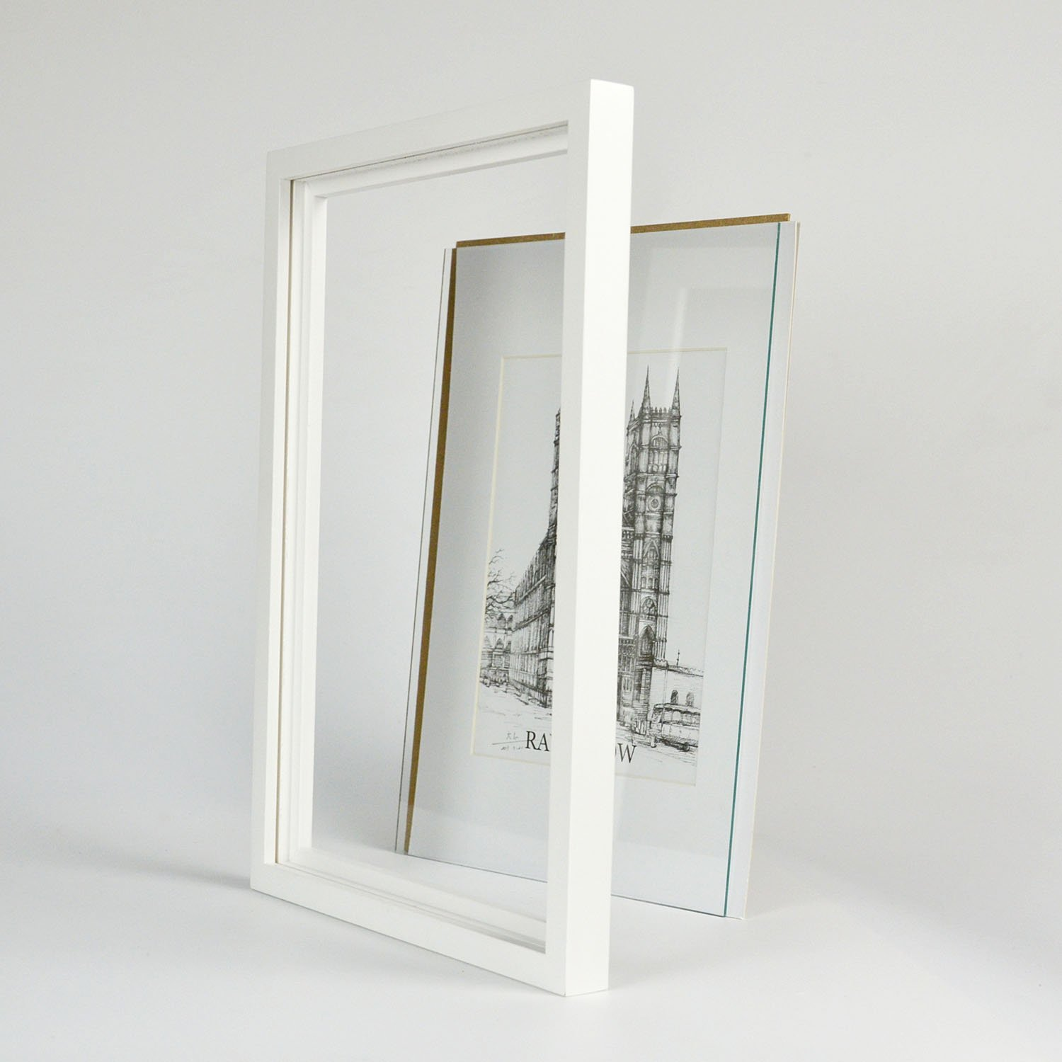 Ray & Chow 5x7 inch White Picture Frame - Made to Display Pictures 4x6 with Mat or 5x7 Without Mat- Solid Wood- Glass Window- with Stand or Wall Hanging -3 Pack by Ray & Chow