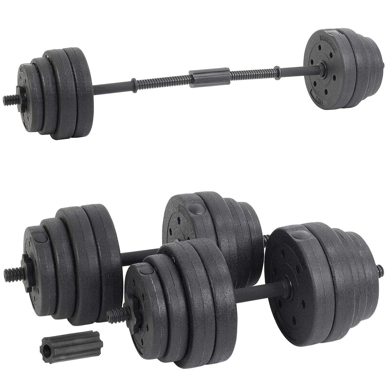 30 kg, Incluye Mancuernas Color Negro Generic Juego de Mancuernas para Levantamiento de Pesas