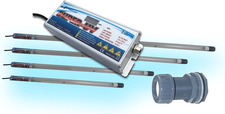 Aquaforte Profi Amalgam Tauch UVC 80 Watt Tauchstrahler Set Bausatz 5 teilig ink