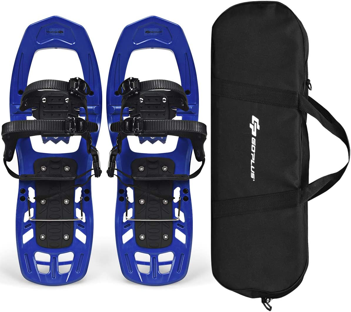 Goplus 22-inch Snowshoes for Men and Women, Lightweight All Terrain Snow Shoes with Heel Lift, Adjustable Ratchet Bindings, Hard Rack Grip Teeth and Carrying Tote Bag