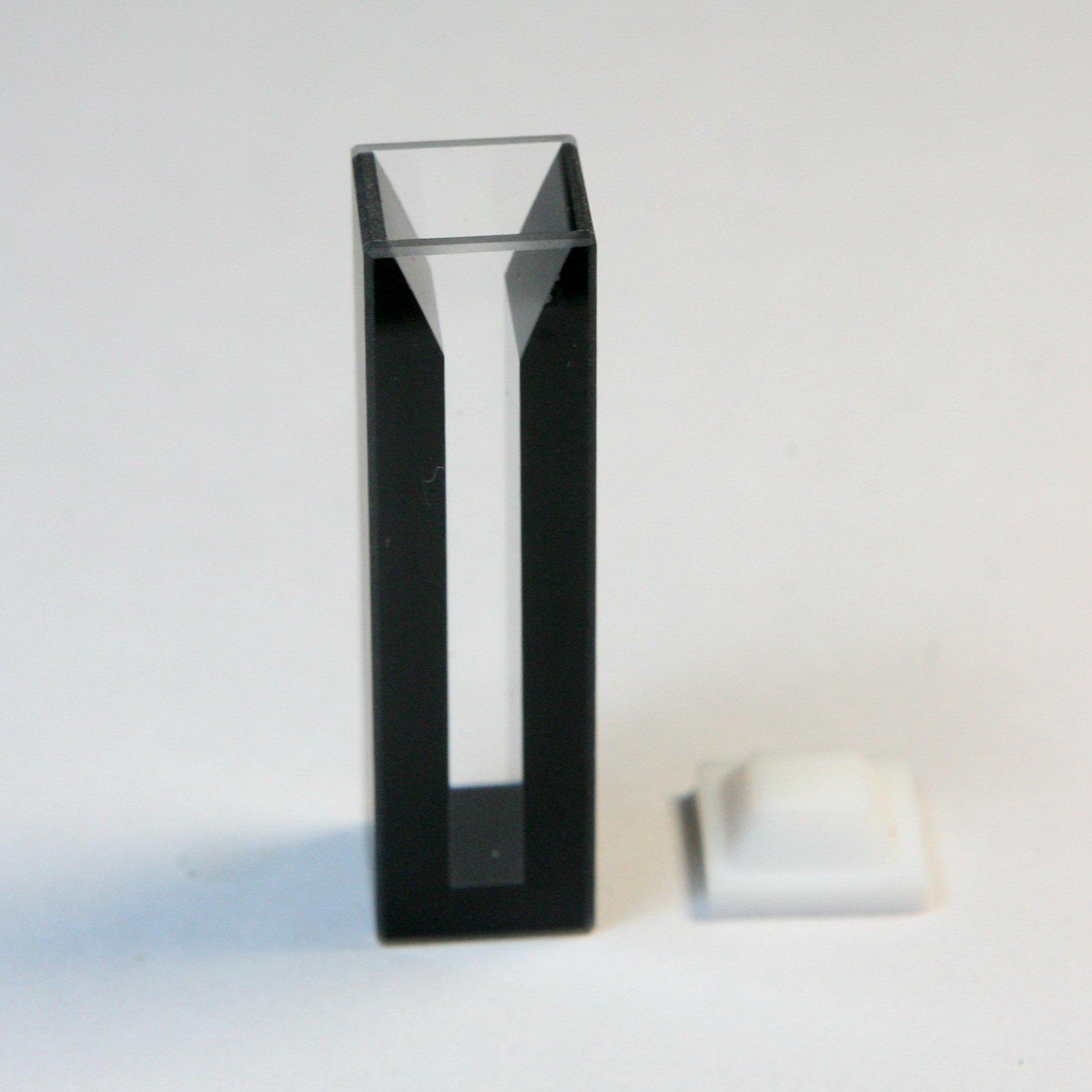 Micro Quartz Cuvette, Black Wall, 10mm Lightpath, 1.75ml, 5mm Slit, Cuvettes,cell
