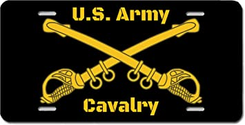 U.S MILITARY ARMY 1st CAVALRY DIVISION METAL LICENSE PLATE FRAME NEW SEALED