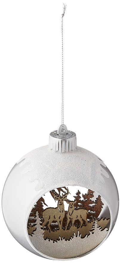 Amazon.com: Demdaco 2020170723 Lit Woodland Scene in Glass Ball ...