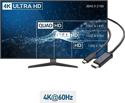 Cable Matters Cable USB C a HDMI(Cable HDMI a USB C) Compatible con 4K 60Hz en Negro 3 m: Amazon.es: Electrónica